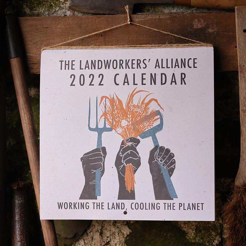 Landworkers Alliance calendar front cover